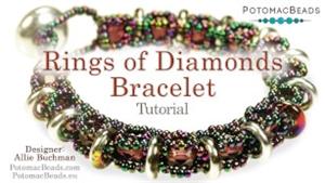 How to Bead Jewelry / Beading Tutorials & Jewel Making Videos / Bracelet Projects / Rings of Diamonds Bracelet Tutorial