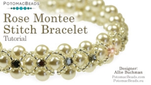 How to Bead Jewelry / Beading Tutorials & Jewel Making Videos / Bracelet Projects / Rose Montee Stitch Tutorial
