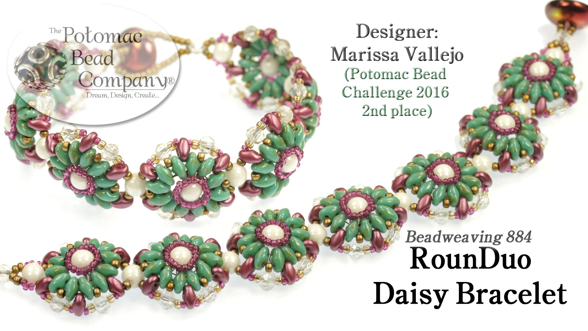 How to Bead Jewelry / Beading Tutorials & Jewel Making Videos / Bracelet Projects / RounDuo® Daisy Bracelet Tutorial