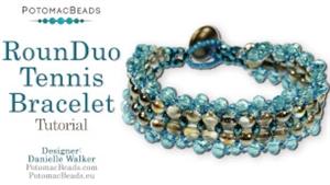 How to Bead Jewelry / Beading Tutorials & Jewel Making Videos / Bracelet Projects / RounDuo® Tennis Bracelet Tutorial