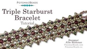 How to Bead Jewelry / Beading Tutorials & Jewel Making Videos / Bracelet Projects / Triple Starburst Bracelet Tutorial