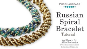 How to Bead Jewelry / Beading Tutorials & Jewel Making Videos / Bracelet Projects / Russian Spiral Beading & Russian Spiral Tutorial