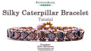 How to Bead Jewelry / Beading Tutorials & Jewel Making Videos / Bracelet Projects / Silky Caterpillar Bracelet Tutorial