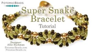 How to Bead Jewelry / Beading Tutorials & Jewel Making Videos / Bracelet Projects / Super Snake Bracelet Tutorial