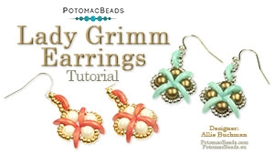 How to Bead / Free Video Tutorials / Earring Projects / Lady Grimm Earrings Tutorial