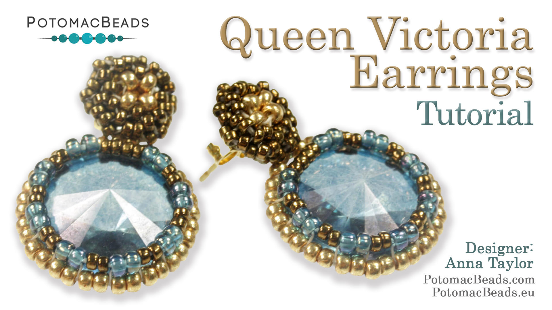 How to Bead / Free Video Tutorials / Earring Projects / Queen Victoria Earrings Tutorial