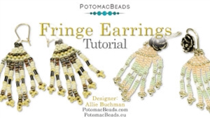 How to Bead / Free Video Tutorials / Earring Projects / Seed Bead Fringe Earrings Tutorial