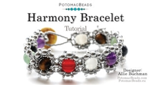 How to Bead Jewelry / Beading Tutorials & Jewel Making Videos / Bracelet Projects / Harmony Bracelet Tutorial