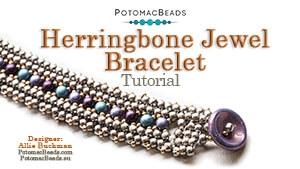 How to Bead / Free Video Tutorials / Bracelet Projects / Herringbone Jewel Bracelet Beadweaving Tutorial