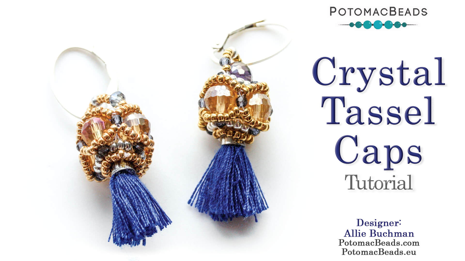 How to Bead / Free Video Tutorials / Earring Projects / Crystal Tassel Caps Earrings Tutorial
