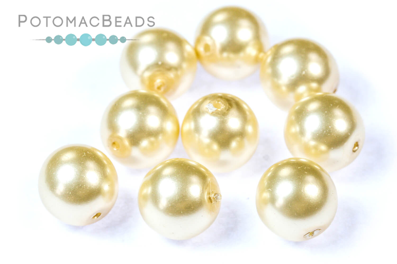 Czech Pressed Glass Beads / Czech Glass Pearls / Glass Pearls 8-12mm