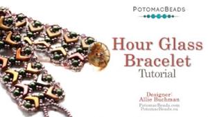 How to Bead Jewelry / Beading Tutorials & Jewel Making Videos / Bracelet Projects / Hour Glass Bracelet Tutorial