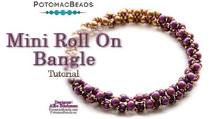 How to Bead Jewelry / Beading Tutorials & Jewel Making Videos / Bracelet Projects / Mini Roll On Bangle Bracelet Beadweaving Tutorial