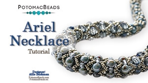 How to Bead Jewelry / Beading Tutorials & Jewel Making Videos / Bead Weaving Tutorials & Necklace Tutorial / Ariel Necklace Tutorial