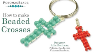 How to Bead Jewelry / Beading Tutorials & Jewel Making Videos / Pendant Projects / Beaded Crosses Tutorial