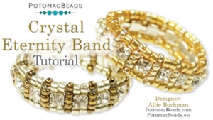 How to Bead / Free Video Tutorials / Ring Projects / Crystal Eternity Band Tutorial