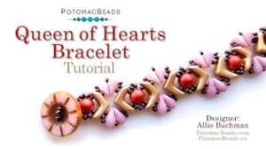 How to Bead Jewelry / Beading Tutorials & Jewel Making Videos / Bracelet Projects / Queen of Hearts Bracelet Beadweaving Tutorial