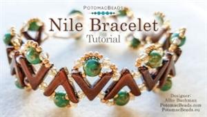 How to Bead Jewelry / Beading Tutorials & Jewel Making Videos / Bracelet Projects / Nile Bracelet Beadweaving Tutorial