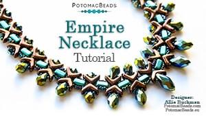 How to Bead Jewelry / Beading Tutorials & Jewel Making Videos / Bead Weaving Tutorials & Necklace Tutorial / Empire Necklace Tutorial