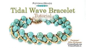 How to Bead / Free Video Tutorials / Bracelet Projects / Tidal Wave Bracelet Tutorial
