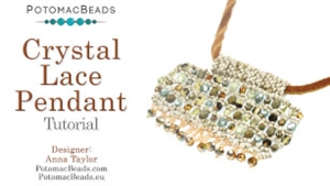 How to Bead / Free Video Tutorials / Pendant Projects / Crystal Lace Pendant Tutorial