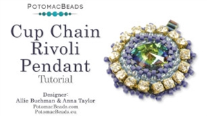 How to Bead / Free Video Tutorials / Pendant Projects / Cup Chain Rivoli Pendant Tutorial
