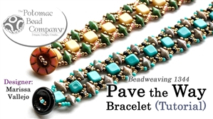 How to Bead Jewelry / Beading Tutorials & Jewel Making Videos / Bracelet Projects / Pave the Way Bracelet Beadweaving Tutorial