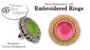 How to Bead / Free Video Tutorials / Ring Projects / Embroidered Rings Tutorial