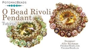 How to Bead Jewelry / Beading Tutorials & Jewel Making Videos / Pendant Projects / O Bead Rivoli Bezel Tutorial