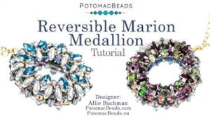How to Bead / Free Video Tutorials / Pendant Projects / Reversible Marion Medallion Tutorial