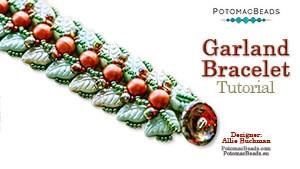 How to Bead Jewelry / Beading Tutorials & Jewel Making Videos / Bracelet Projects / Garland Bracelet Tutorial