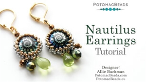 How to Bead / Free Video Tutorials / Earring Projects / Nautilus Earrings Tutorial
