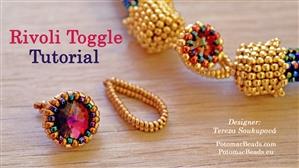 How to Bead Jewelry / Beading Tutorials & Jewel Making Videos / Bead Weaving Tutorials & Necklace Tutorial / Rivoli Toggle Beadweaving Tutorial