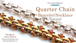 How to Bead Jewelry / Beading Tutorials & Jewel Making Videos / Bracelet Projects / Quarter Chain Tutorial