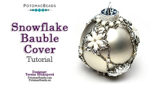 How to Bead Jewelry / Beading Tutorials & Jewel Making Videos / Holiday Themed Projects / Snowflake Bauble Ornament Cover Tutorial