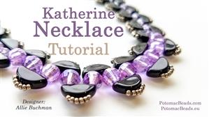 How to Bead Jewelry / Beading Tutorials & Jewel Making Videos / Bead Weaving Tutorials & Necklace Tutorial / Katherine Necklace Tutorial