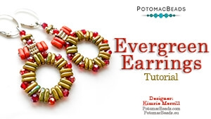 How to Bead Jewelry / Beading Tutorials & Jewel Making Videos / Earring Projects / Evergreen Earrings Tutorial