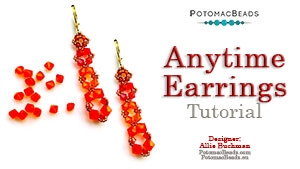 How to Bead Jewelry / Beading Tutorials & Jewel Making Videos / Earring Projects / Anytime Earrings Tutorial
