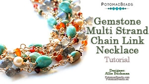 How to Bead Jewelry / Beading Tutorials & Jewel Making Videos / Wire Working Projects / Gemstone Multi Strand Chain Link Necklace Tutorial
