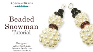 How to Bead Jewelry / Beading Tutorials & Jewel Making Videos / Holiday Themed Projects / Beaded Snowmen Tutorial
