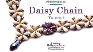 How to Bead Jewelry / Beading Tutorials & Jewel Making Videos / Bead Weaving Tutorials & Necklace Tutorial / Daisy Chain Necklace Tutorial