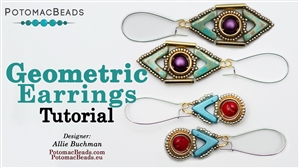 How to Bead / Free Video Tutorials / Earring Projects / Geometric Earrings Tutorial