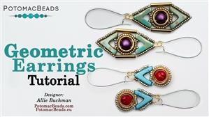 How to Bead Jewelry / Beading Tutorials & Jewel Making Videos / Earring Projects / Geometric Earrings Tutorial