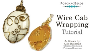 How to Bead Jewelry / Beading Tutorials & Jewel Making Videos / Wire Working Projects / Cabochon Wrapping Tutorial