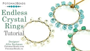 How to Bead Jewelry / Beading Tutorials & Jewel Making Videos / Wire Working Projects / Endless Crystal Rings