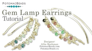 How to Bead / Free Video Tutorials / Wire Working Projects / Gem Lamp Necklace