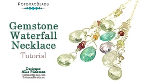 How to Bead Jewelry / Beading Tutorials & Jewel Making Videos / Wire Working Projects / Gemstone Waterfall Necklace