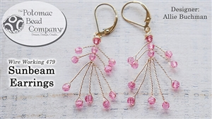 How to Bead / Free Video Tutorials / Wire Working Projects / Sunbeam Earring Tutorial