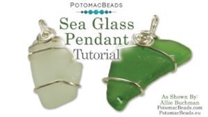 How to Bead Jewelry / Beading Tutorials & Jewel Making Videos / Wire Working Projects / Sea Glass Pendant Tutorial