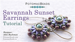 How to Bead Jewelry / Beading Tutorials & Jewel Making Videos / Earring Projects / Savannah Sunset Earrings Tutorial
